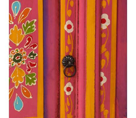 vidaXL TV staliukas, masyvi mango mediena, rožinė sp., rankomis dažyta[9/14]