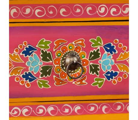 vidaXL TV staliukas, masyvi mango mediena, rožinė sp., rankomis dažyta[10/14]