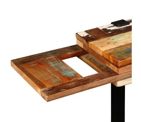 vidaXL Mesa consola ajustável em madeira maciça recuperada[9/11]