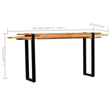 vidaXL Mesa consola ajustável em madeira maciça recuperada[11/11]