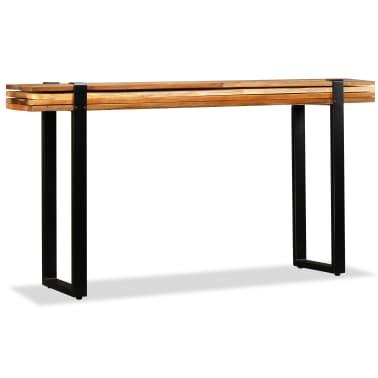 vidaXL Mesa consola ajustável em madeira maciça recuperada[4/11]