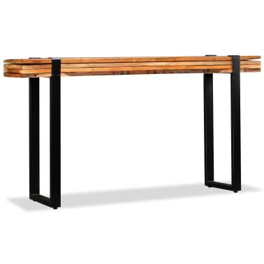 vidaXL Mesa consola ajustável em madeira maciça recuperada[5/11]