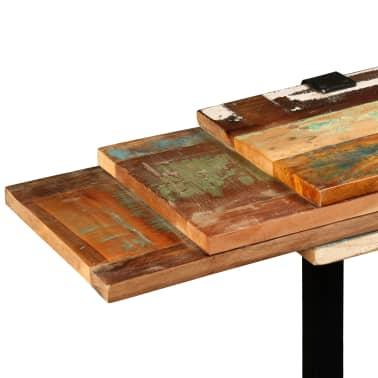 vidaXL Mesa consola ajustável em madeira maciça recuperada[8/11]