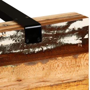 vidaXL Mesa consola ajustável em madeira maciça recuperada[10/11]