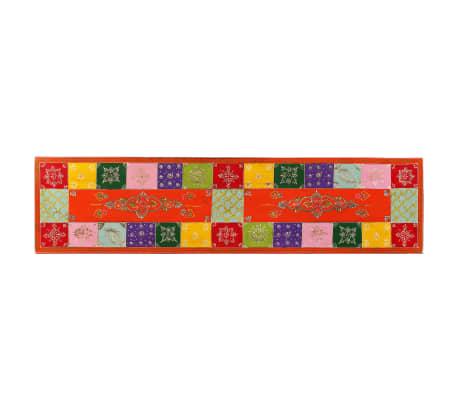 vidaxl meuble tv bois de manguier massif peint la main47