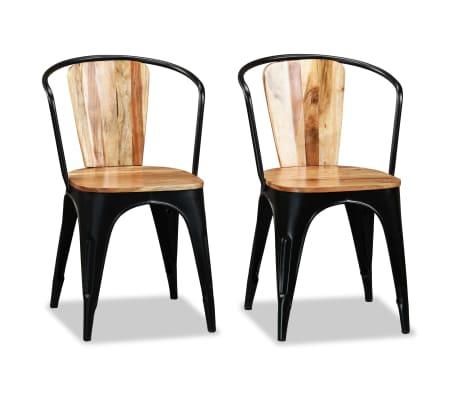 vidaXL Трапезни столове, 2 бр, акациево дърво масив