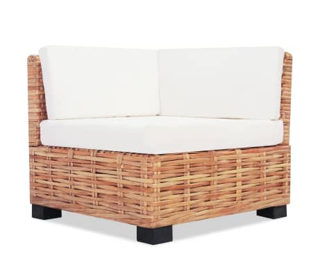 vidaXL Sofa Set 18 kom Prirodni Ratan[4/10]