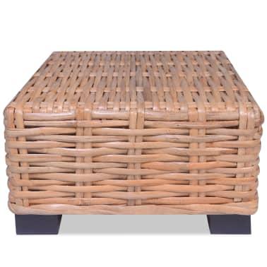 vidaXL Kavos staliukas, 45x45x30cm, natūralus ratanas[1/4]