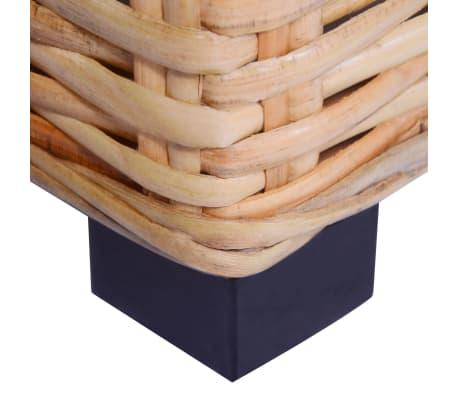 vidaXL Kavos staliukas, 45x45x30cm, natūralus ratanas[3/4]