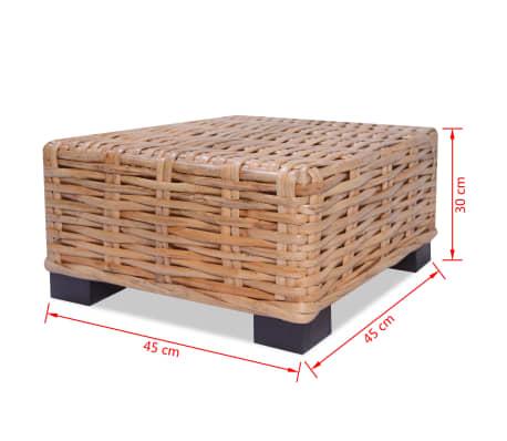 vidaXL Kavos staliukas, 45x45x30cm, natūralus ratanas[4/4]