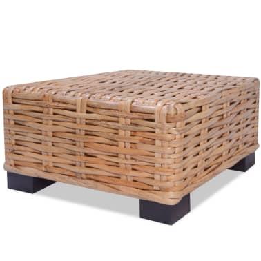 vidaXL Kavos staliukas, 45x45x30cm, natūralus ratanas[2/4]