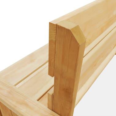 vidaXL Záhradná lavička 160 cm, impregnovaná borovica[4/5]