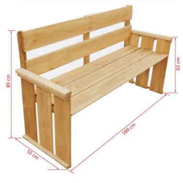 vidaXL Záhradná lavička 160 cm, impregnovaná borovica[5/5]