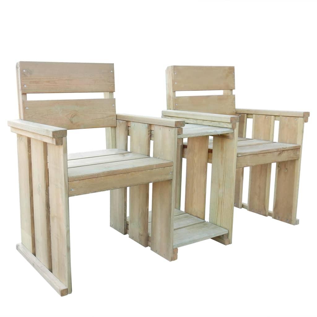 vidaXL Κάθισμα Διθέσιο Κήπου 150 εκ. από Εμποτισμένο Ξύλο Πεύκου