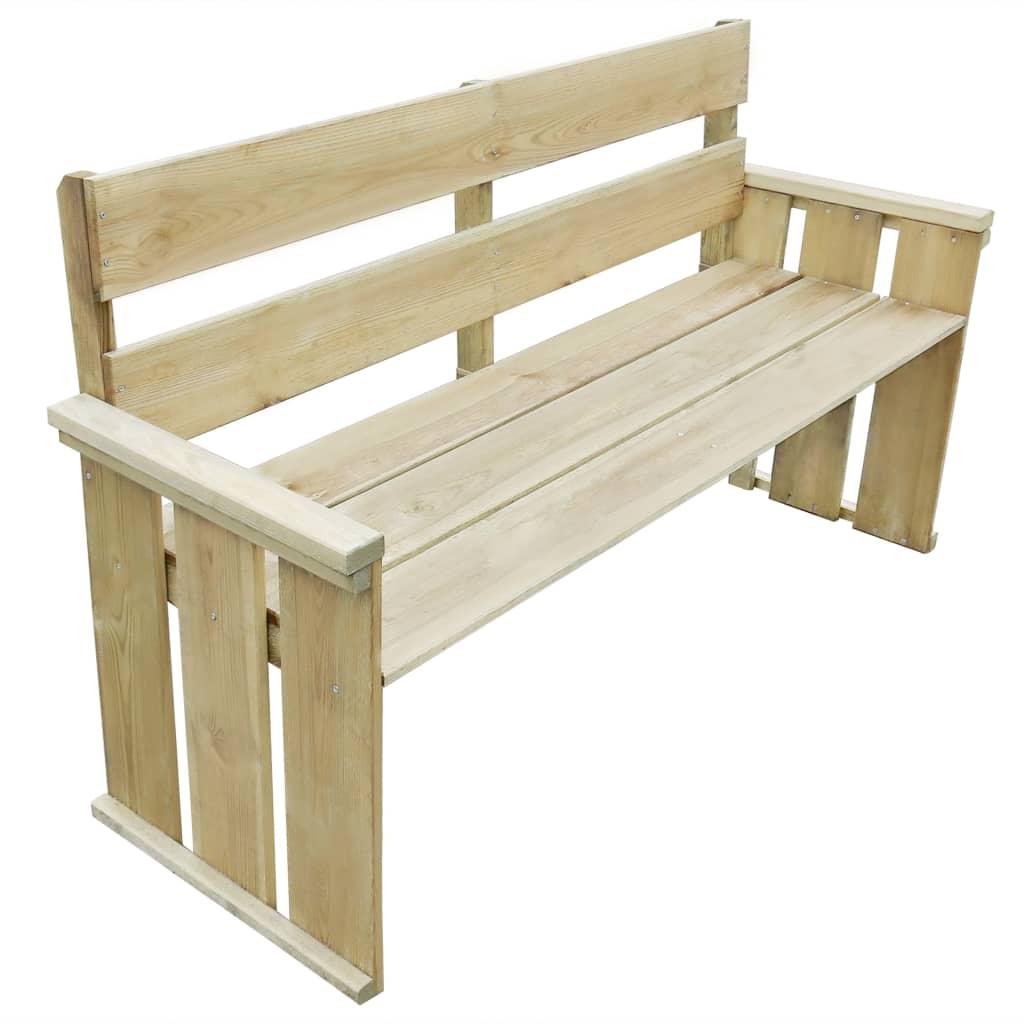 4dílná zahradní sedací souprava impregnovaná borovice