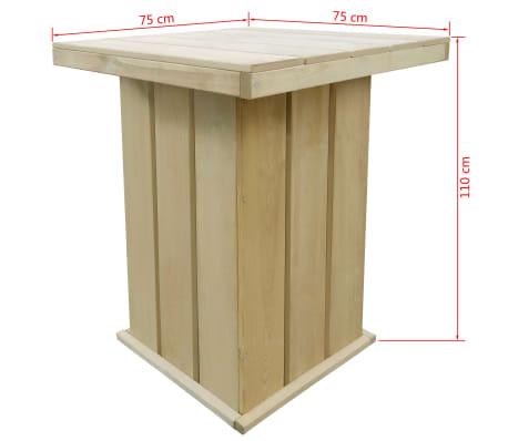 acheter vidaxl meuble d 39 ext rieur 5 pcs 75 x 75 x 110 cm bois de pin impr gn pas cher. Black Bedroom Furniture Sets. Home Design Ideas