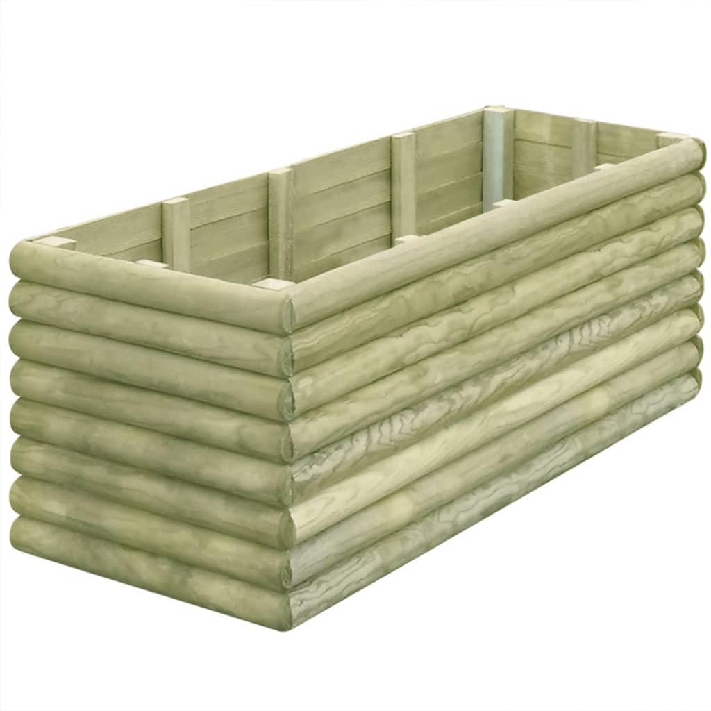 vidaXL Plantenbak 150x56x48 cm geïmpregneerd grenenhout 19 mm