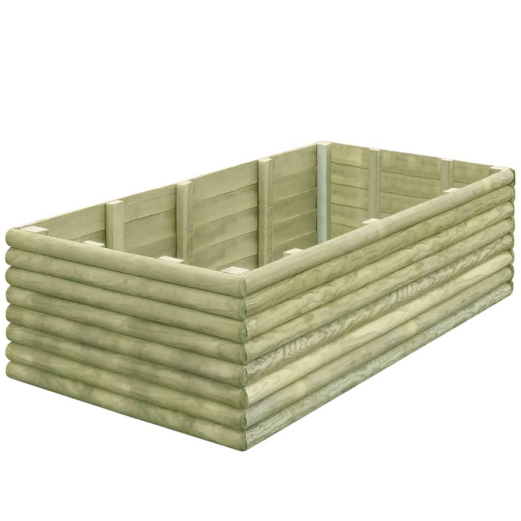 vidaXL Zahradní truhlík 150x106x48 cm impregnované borové dřevo 19 mm
