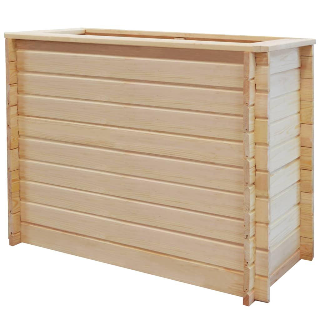 vidaXL Zahradní truhlík 100x50x80 cm borové dřevo 19 mm