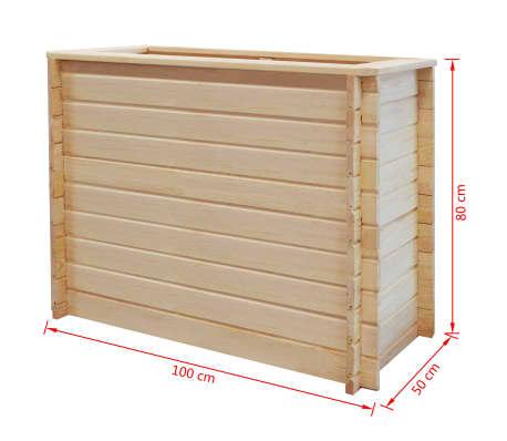 vidaXL Sodo lovelis, 100x50x80, FSC pušies mediena, 19mm[4/4]