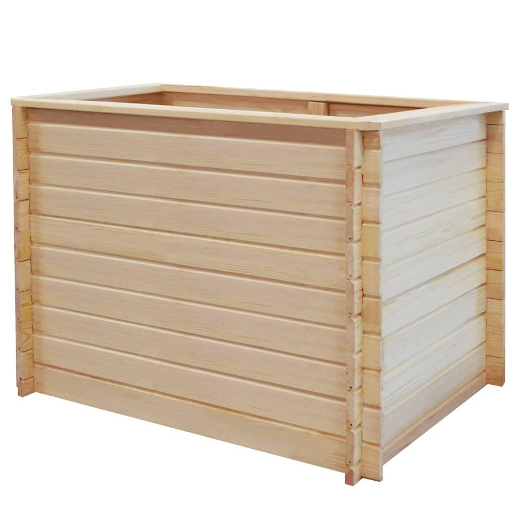 vidaXL Strat înălțat de grădină, 100 x 100 x 80 cm, lemn de pin, 19 mm imagine vidaxl.ro