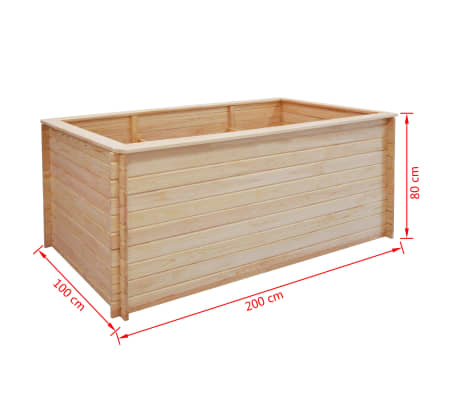 vidaxl pflanzk bel 200 x 100 x 80 cm kiefernholz 19 mm g nstig kaufen. Black Bedroom Furniture Sets. Home Design Ideas
