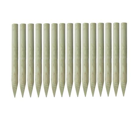 vidaXL Gjerdestolper spisse 15 stk impregnert furu 4x100 cm