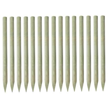 15 db vidaXL hegyes FSC impregnált fenyőfa kerítésoszlop 4 x 150 cm[1/2]
