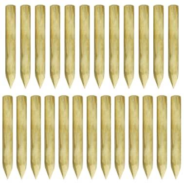vidaXL 25 db hegyes FSC impregnált fenyőfa kerítésoszlop 5 x 40 cm[2/3]