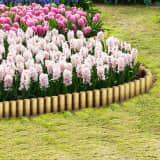 vidaXL Bordure de pelouse en rondins 25 pcs 5x40 cm