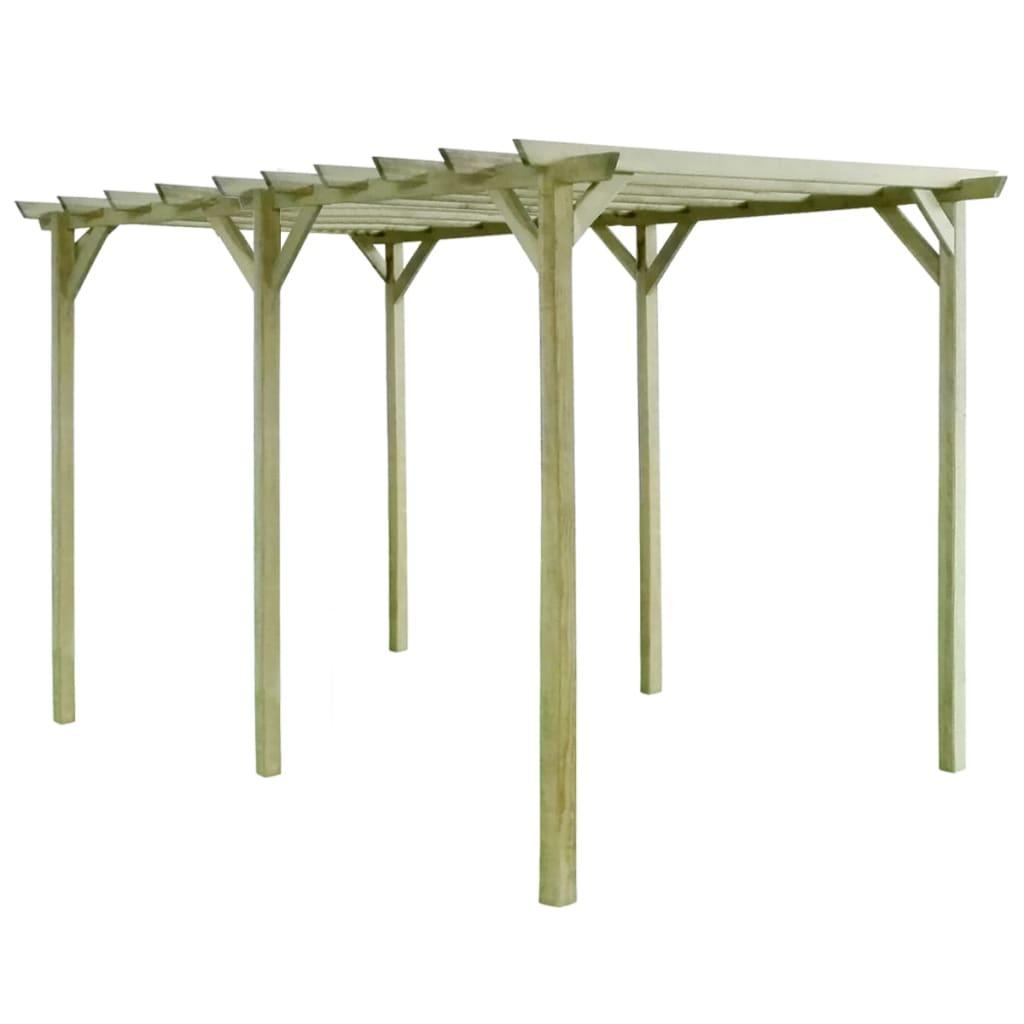 vidaXL Pergolă de grădină, 4 x 2 x 2 m, lemn de pin tratat vidaxl.ro