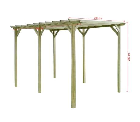 vidaXL Pergola 4x2x2 m geïmpregneerd grenenhout[3/3]