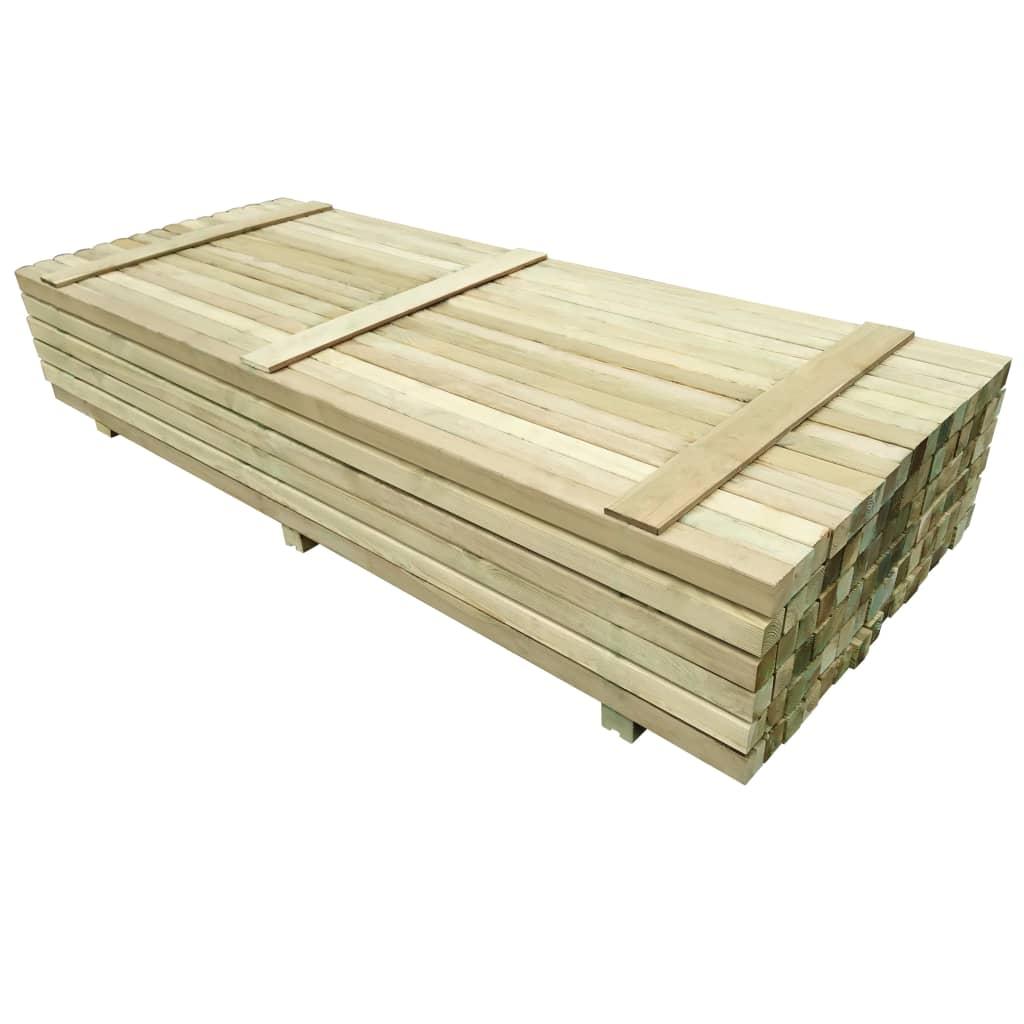 96 ks plotové sloupky impregnovaná borovice 6 x 6 x 240 cm