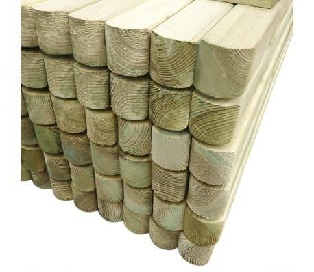 vidaXL Poteaux de clôture 96 pcs Bois de pin imprégné 6x6x240 cm[3/3]