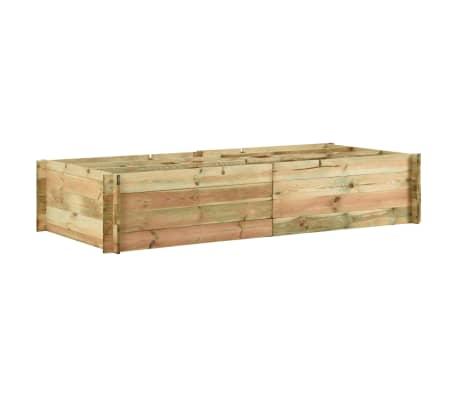 vidaXL Strat înălțat legume grădină, 197x100x40 cm  lemn de pin tratat