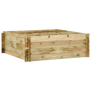 vidaXL Jardinieră de legume, lemn de pin tratat, 120x120x40 cm[1/3]