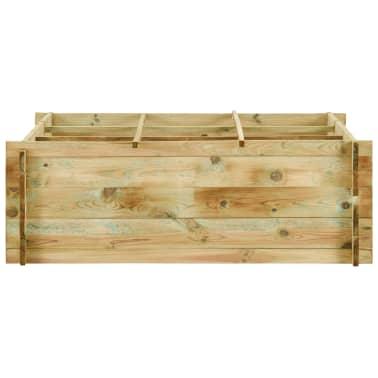 vidaXL Jardinieră de legume, lemn de pin tratat, 120x120x40 cm[2/3]