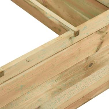 vidaXL Jardinieră de legume, lemn de pin tratat, 120x120x40 cm[3/3]