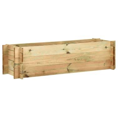 vidaXL Sodo vazonas augalams, FSC impregnuota pušies mediena, 120 cm[1/4]