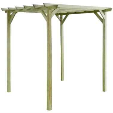 vidaXL Pergolă de grădină, 2 x 2 x 2 m, lemn de pin tratat[1/3]