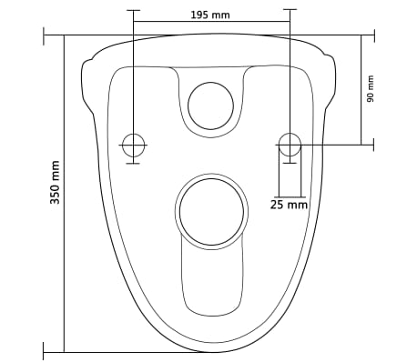 vidaXL Hangend toilet met soft-close toiletbril keramiek wit[10/11]