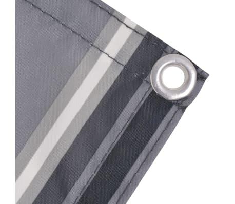 acheter vidaxl paravent de balcon tissu oxford 75 x 600 cm bande gris pas cher. Black Bedroom Furniture Sets. Home Design Ideas