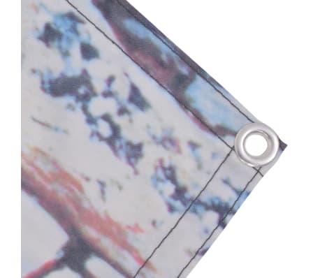 vidaXL Balkonsichtschutz Oxford-Gewebe 90 x 600 cm Steinwand Druck[2/4]
