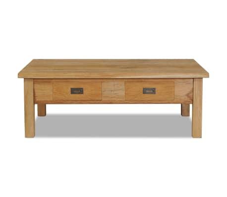 vidaXL Kavos staliukas, masyvi tikmedžio mediena, 100x60x35cm[2/7]