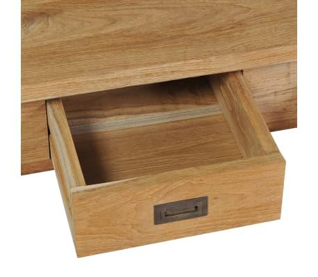 vidaXL Kavos staliukas, masyvi tikmedžio mediena, 100x60x35cm[4/7]