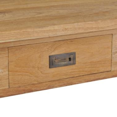 vidaXL Kavos staliukas, masyvi tikmedžio mediena, 100x60x35cm[5/7]