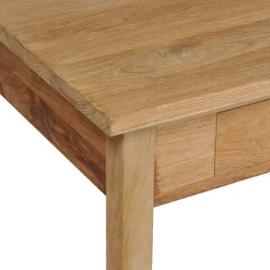 vidaXL Kavos staliukas, masyvi tikmedžio mediena, 100x60x35cm[6/7]