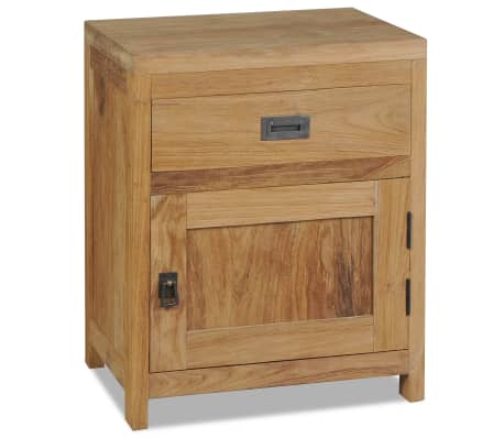 vidaXL Bedside Cabinet Solid Teak 40x30x50 cm