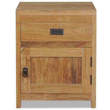 vidaXL Naktinis staliukas, tvirtas tikmedis, 40x30x50cm[2/7]
