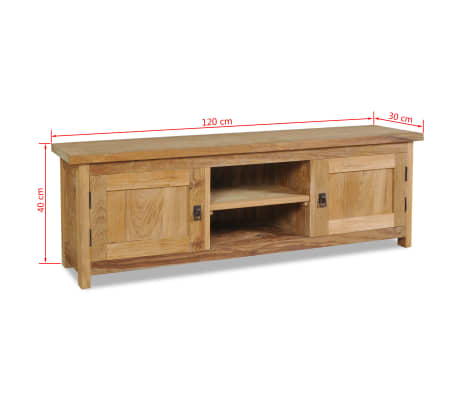vidaxl tv schrank massivholz teak 120 30 40 cm g nstig kaufen. Black Bedroom Furniture Sets. Home Design Ideas